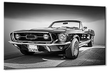 Leinwandbild Canvas Wandbilder Keilrahmenbild Oldtimer Auto Wagen Ford Mustang