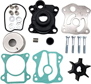 Water Pump Impeller Kit Replacement For 06193-ZV5-010 Fit for Honda 40 50 hp BF40A BF50A BF40D BF50D Outboard Replace 06193-ZV5-010, 06193-ZV5-000