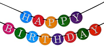 Amazon.com: Happy Birthday Banner - Birthday Decorations - Premium ...