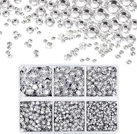 2000 Crystal AB Glass Hot Fix// Iron On Crystal Diamante Rhinestones