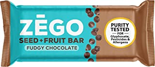 product image for ZEGO Seed + Fruit Bars, Fudgy Chocolate, Non GMO, Organic, Vegan, Gluten Free, 38g (Pack of 9)