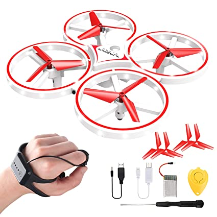 Jeestam Mini Drone for Kids, 2 4G Gravity Sensor RC Nano Quadcopter with  Infrared Obstacle Avoidance, Hand Control, Throw to Fly, Altitude Hold, 3D