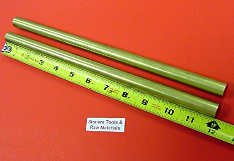 "2/"" Diameter x 10/""-Long 360 Brass Round Bar -/>2/""  360 Brass Rod LATHE STOCK"