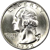 1952-S 25c Washington Silver Quarter Uncirculated Mint State