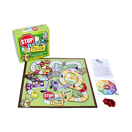 amazon com the stop relax and think board game by empire discount