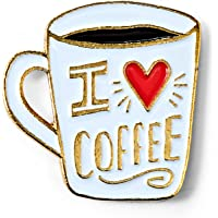 BADGE BOMB I Love Coffee Enamel Pin Allison Cole