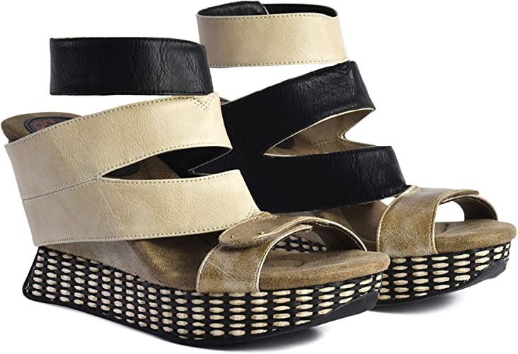 Modzori Nysa Women/'s Mid Wedge Reversible Sandal