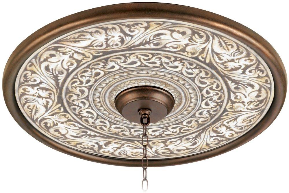 Florentine Flourish 24'' Giclee Bronze Ceiling Medallion by Universal Lighting and Decor