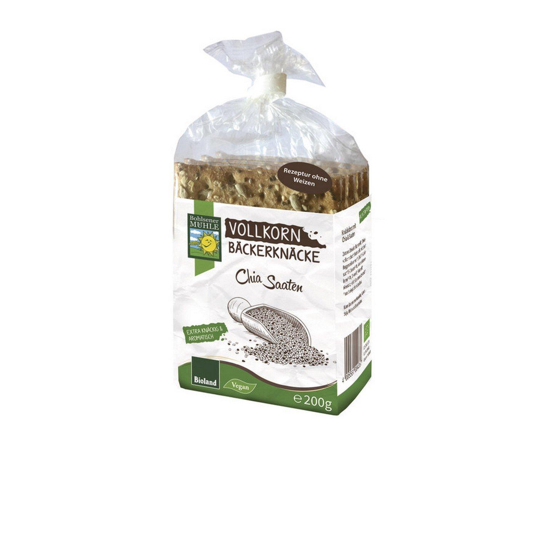 Bohlsener Mühle Snäckebrot Panes Crujientes con Chia y Semillas de Lino - 5 Paquetes de 200 gr - Total: 1000 gr: Amazon.es: Alimentación y bebidas