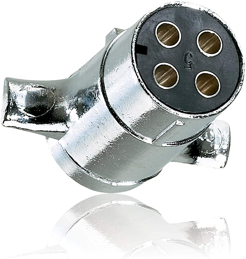Amazon.com: Hopkins Towing Solutions 4 POLE ROUND TRAILER PLUG END ONLY,  Regular: Automotive  Amazon.com