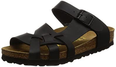 328b3da0020 Birkenstock womens Pisa in Black from Birko-Flor Sandals 41.0 EU N