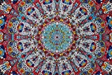 glow in the dark sheets - Sunshine Joy 3D Psychedelic Sunburst Tapestry Tablecloth Beach Sheet 60x90 Inches - Glow In The Dark