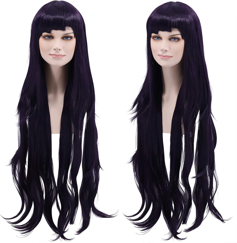Free Wig Cap by Cfalaicos Cf-fashion Danganronpa Mikan Tsumiki Cosplay Wig Costume Dark Purple