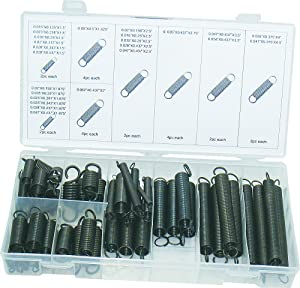 Swordfish Black Oxide Finish Extension Spring Assortment, 54 Piece