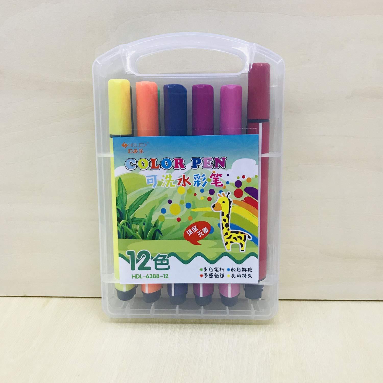 12 marcadores dobles de puntas artísticas de colores, punta ...