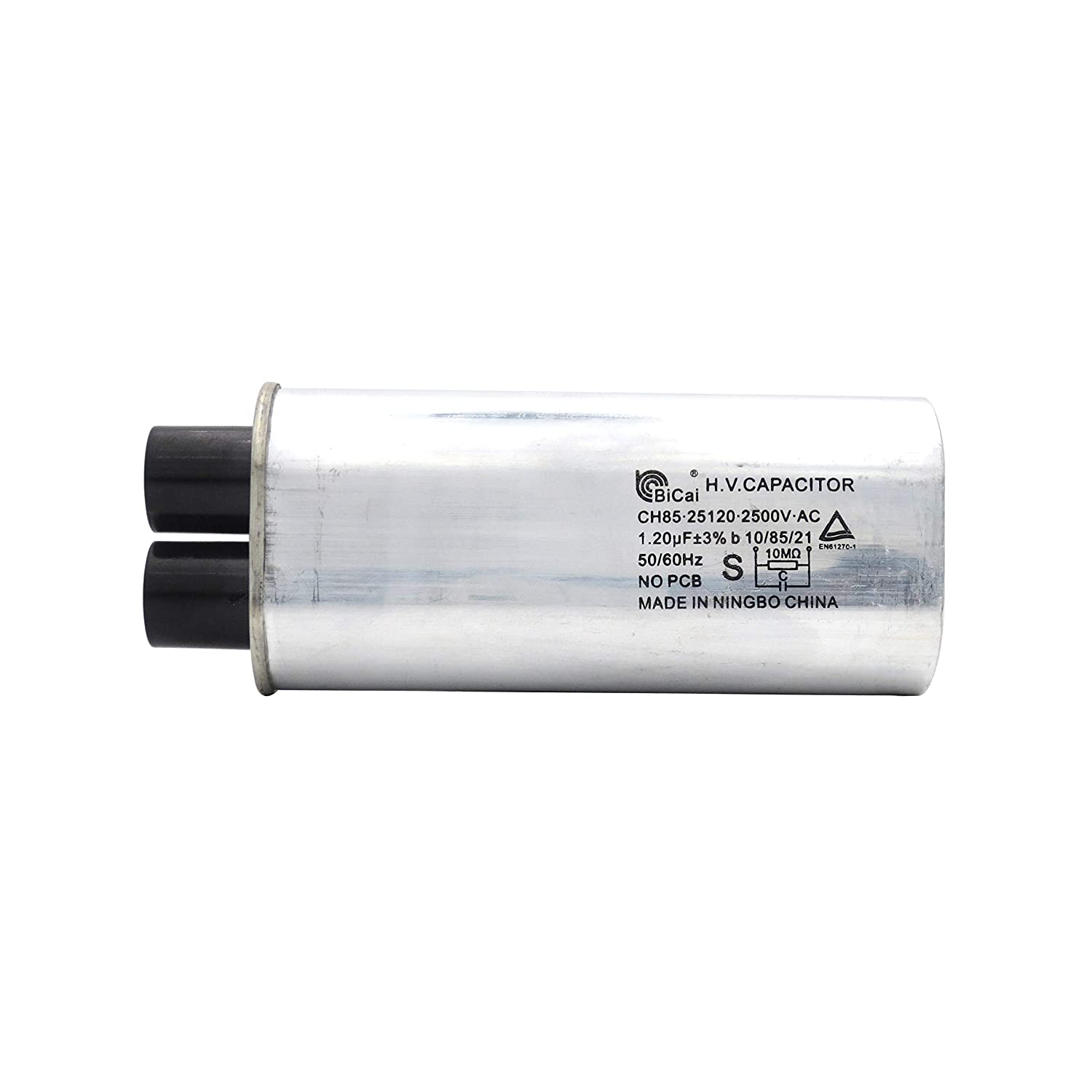 Meter Star CQC/&VDE Universal Household Microwave High Voltage Capacitor 1.20uf ch85 25120 2500V AC H.V.CAPACITOR 10//85//21 50//60Hz NO PCB