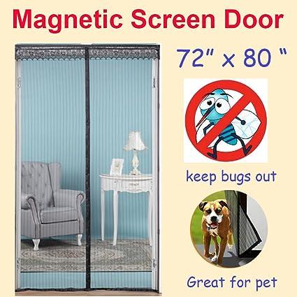 Amazon Zyettst 72w X 80h Magnetic Screen Door For French