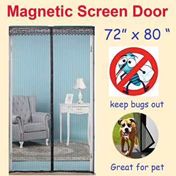 Amazon zyettst 72w x 80h magnetic screen door for zyettst 72quotw x 80quoth magnetic screen door for planetlyrics