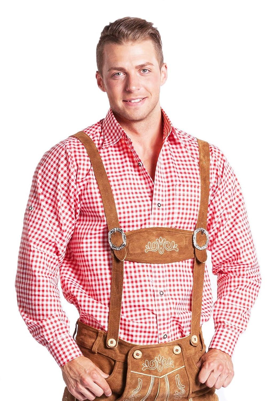 TRACHTENHEMD Herren Karohemd oder Stehkragenhemd - FROHSINN - Trachten Hemd kariert - blau, rot, grün, schwarz, lila - ALLE Größen!