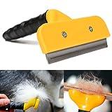 "MFEIR 4"" Haustier Deshedding Pflegewerkzeug Unterfellbürste Hundekamm Hundebürste Katzenbürste mit Edelstahl Blatt"