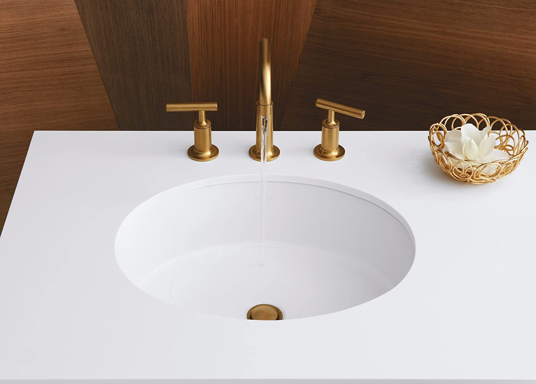 KOHLER K Verticyl Oval Undercounter Bathroom Sink White - Under counter bathroom sinks