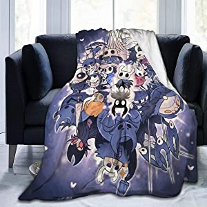 KelseyTorres Hollow Knight Super Soft Blanket for Fall Winter Spring All Season Warm Hypoallergenic Washable Lightweight Blankets for Home Couch Bed Sofa