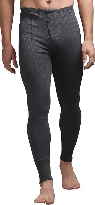 1 par de pantalones térmicos largos para hombres de SockShop Gris ...