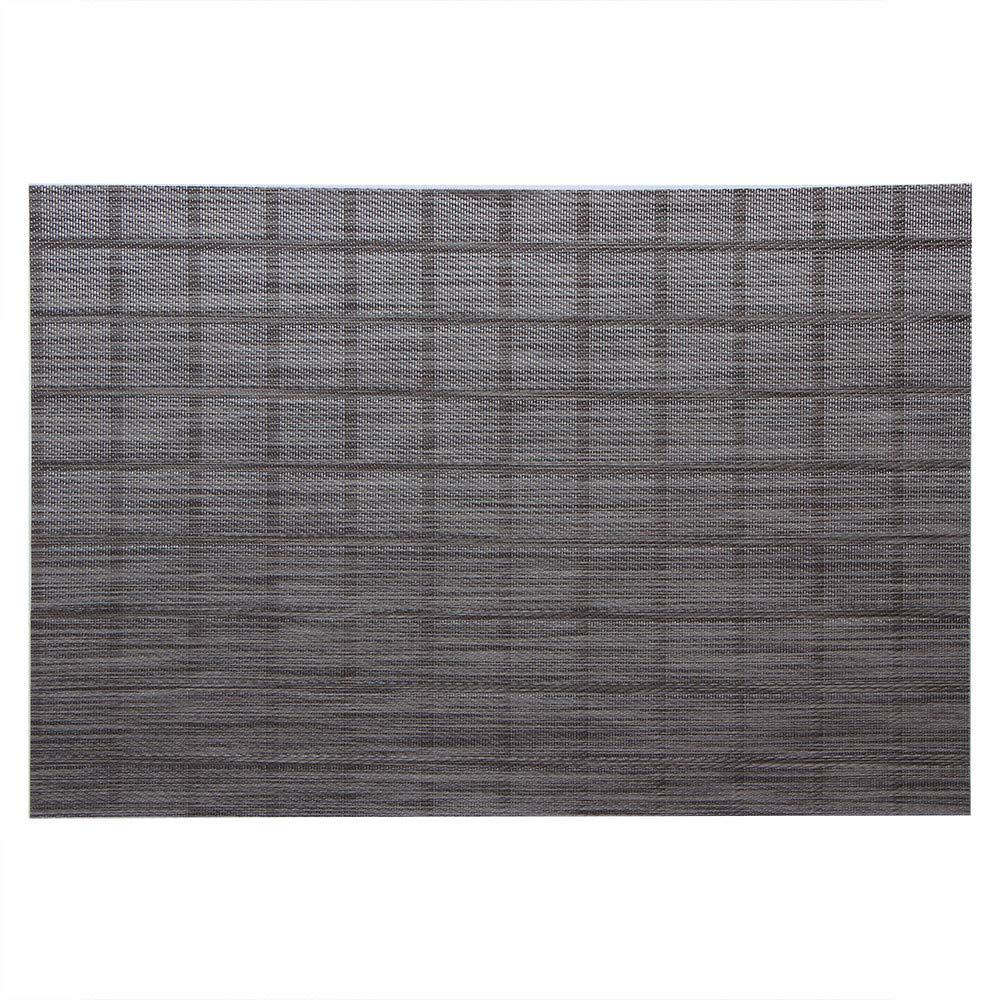 8er Set Tischset Platset Matte Decke abwaschbar hitzebeständig Filz 45x30cm Grau