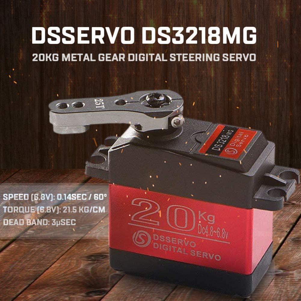 Dnasrivew DSSERVO DS3218MG 20kg Metal Gear Digital Steering Servo for RC Car Boat Airplane 1pcs