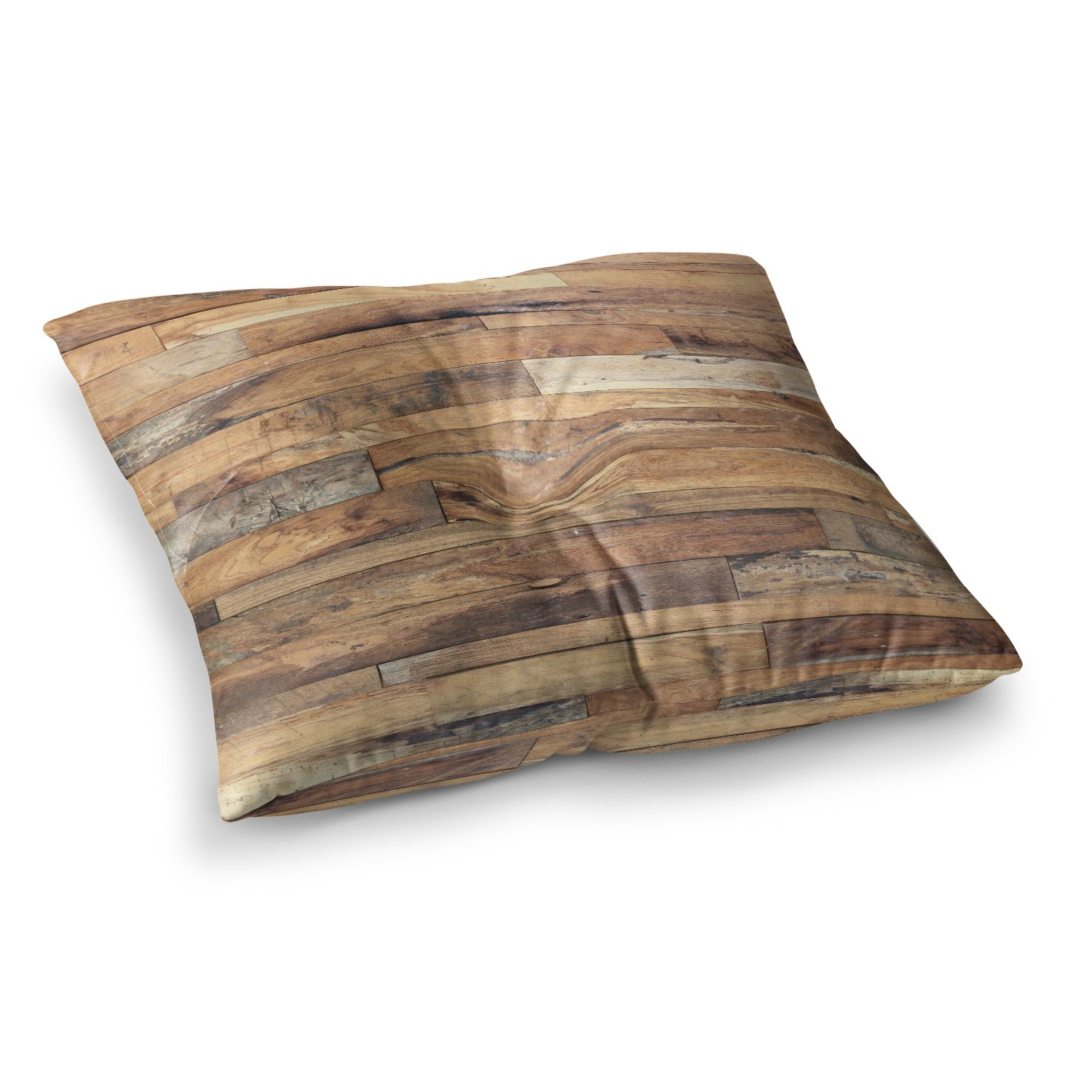 KESS InHouse Susan Sanders Campfire Wood Rustic Square Floor Pillow, 26'' x 26'' by Kess InHouse (Image #1)