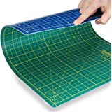 "Quilting Bee® 12""x18"" 2-in-1 (Green/Blue) Self-Healing Cutting Mat for quilting, crafts and scrapbooking. Use with rotary cutters, x-acto knives and cutting blades. (CM1218)"