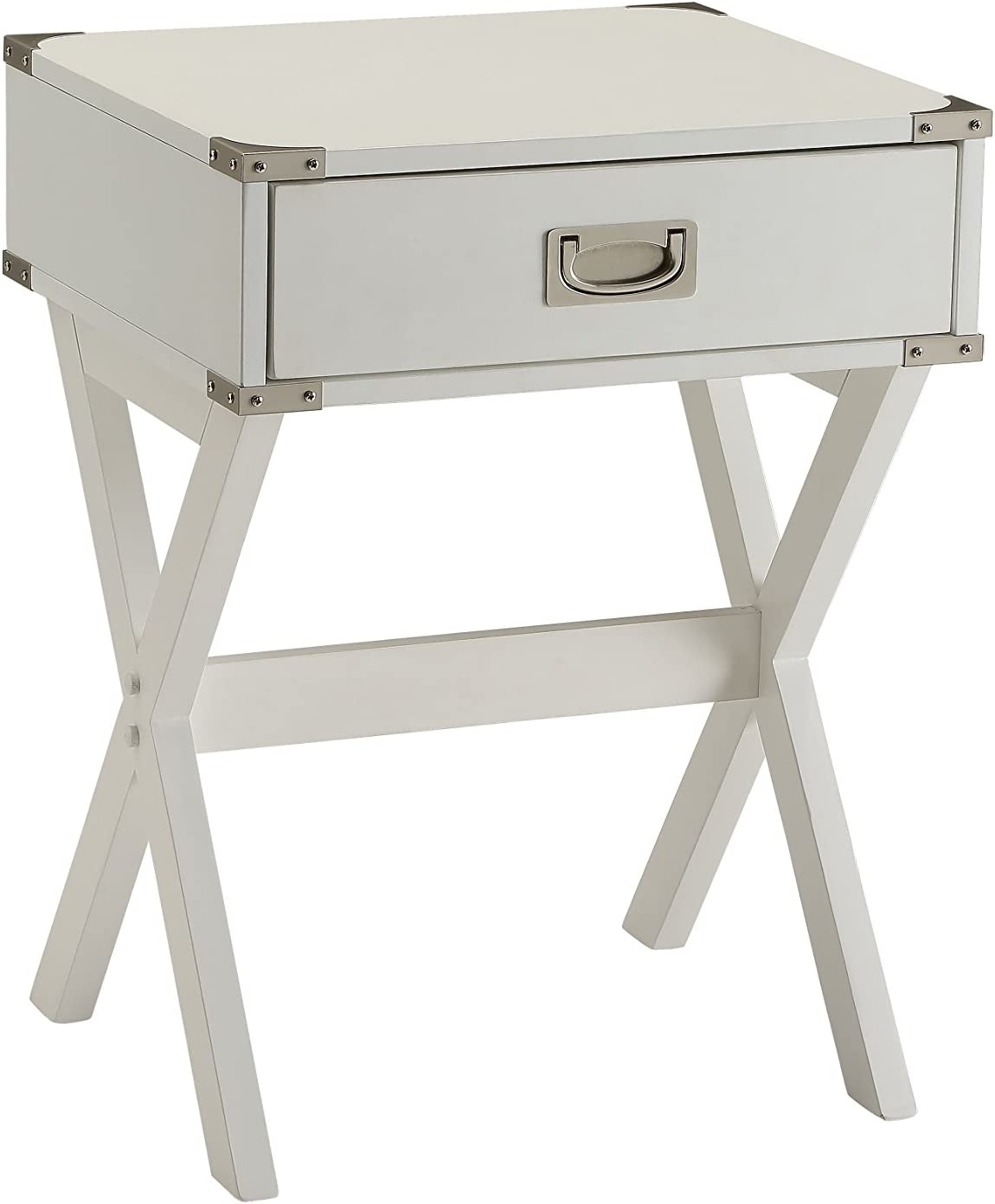 ACME Furniture 82824 Babs End Table, White, One Size