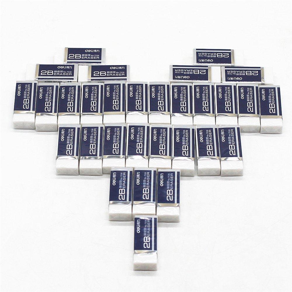 Tang Song 30Pack White Soft Erasers Bulk, Block Eraser, Premium Hi-Quality Polymer Eraser, Ideal Bulk Boxy Erasers for Kids, School, Art, Drafting, Office, Home (1.6''x0.6''x0.4''(LxWxH)/Pack)