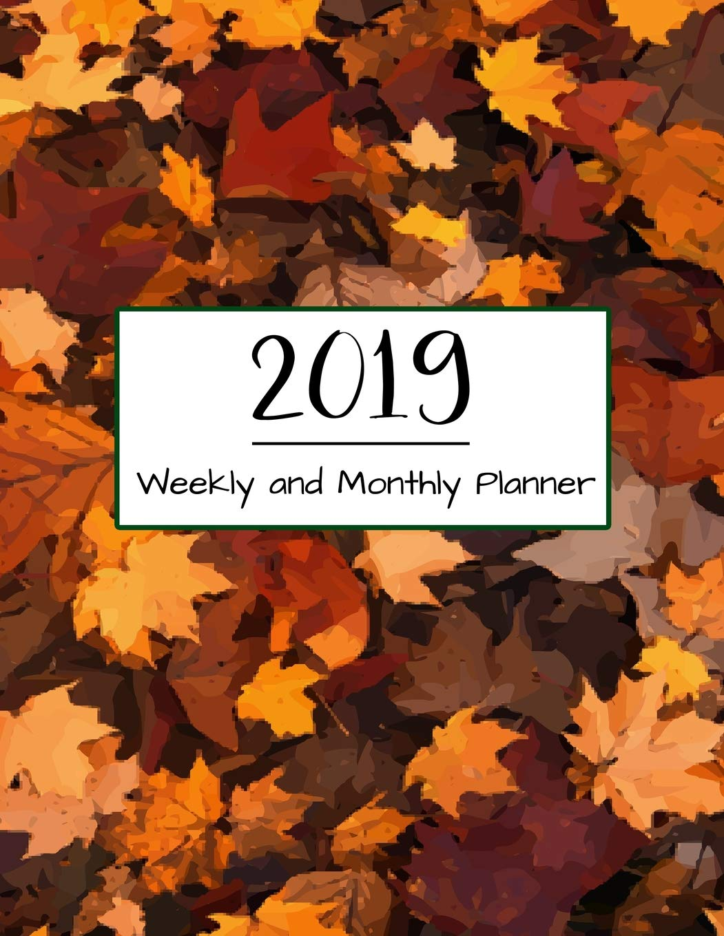 2019 Weekly and Monthly Planner: 12 Month Calendar with US ...