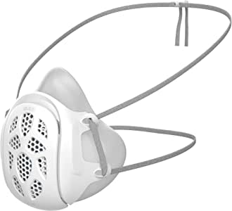 Gill Mask | Reusable Respirator (White, Adult Regular) | Uses Your Own Disposable Face Mask as a Filter