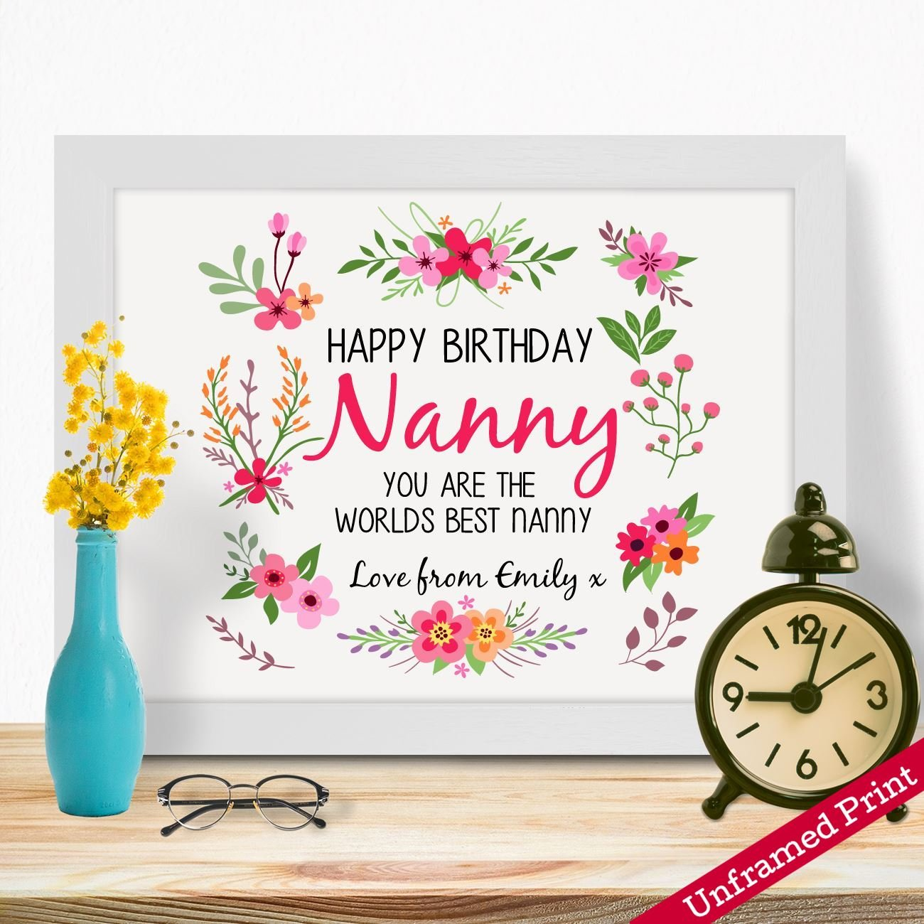 Personalised Gifts For Grandma Nanny Granny Mothers Day Birthday Christmas Xmas From Grandson Granddaughter Grandchildren Grandkids Long Distance First Time