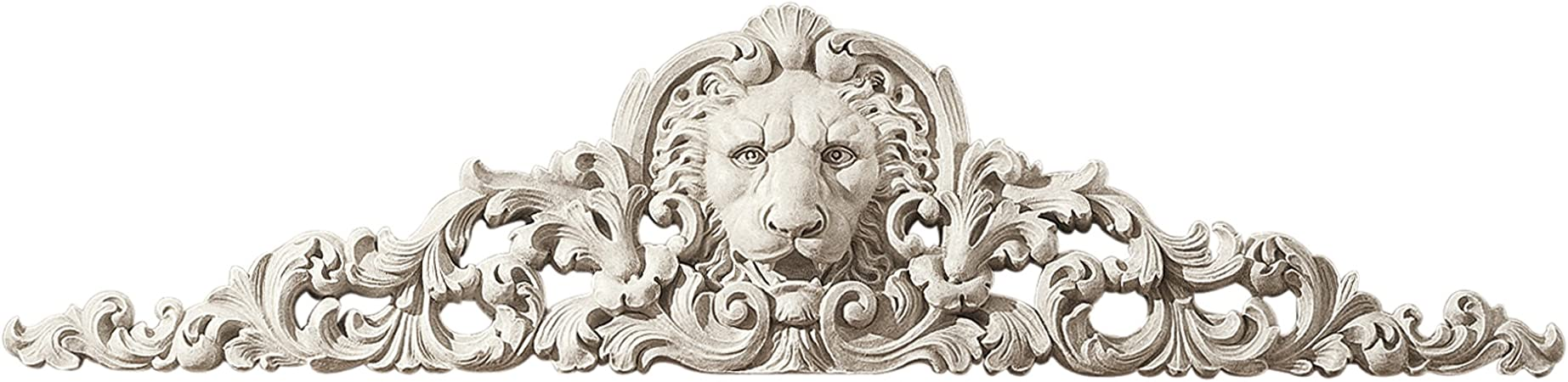 Design Toscano Remoulage Lion Sculptural Wall Pediment