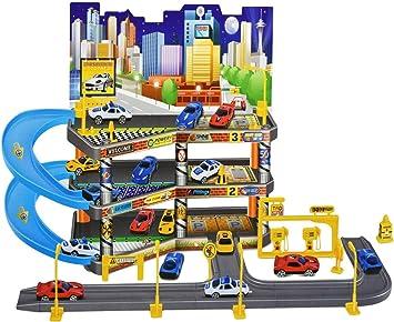 Kids Play Time 3 Level City Car Park Garage Petrol Station