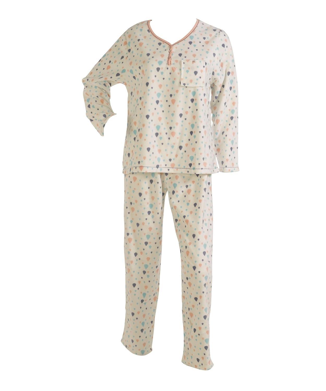 bfd366211e Slenderella Ladies Balloon Print Pyjamas Womens Soft Micro Fleece  Loungewear PJs Set (Various Sizes)  Amazon.co.uk  Clothing