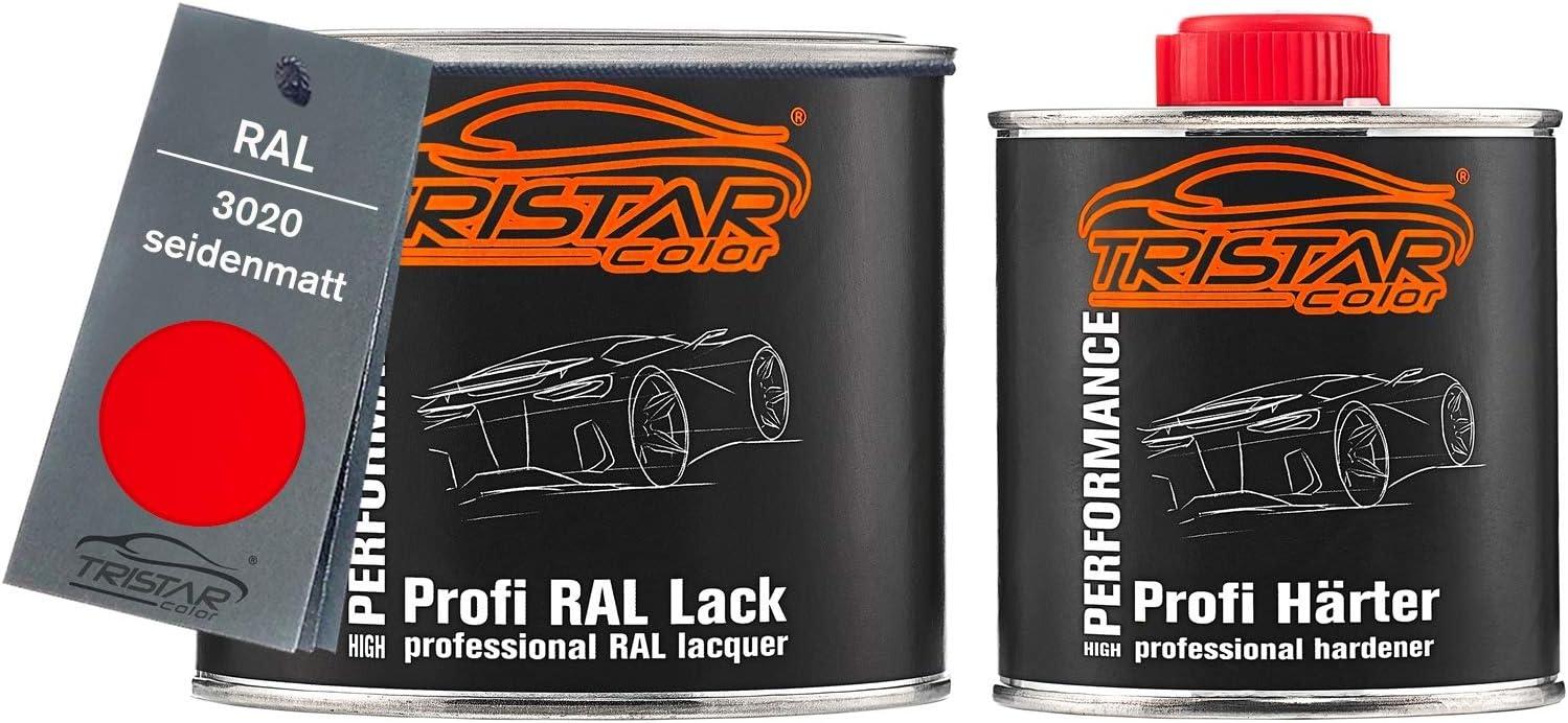Tristarcolor Ral 3020 Verkehrsrot Seidenmatt 2k Autolack 0 75 Liter 750 Ml Dose Inkl Härter Auto
