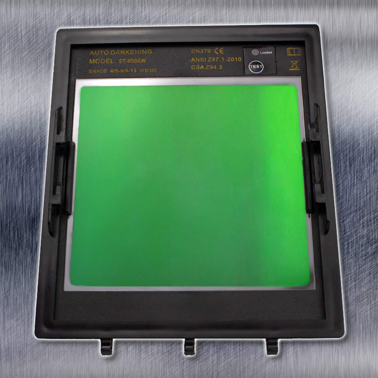 STAHLWERK ST-950XW Vollautomatik Schwei/ßhelm 5 Jahre GARANTIE auf FILTER wei/ß extra gro/ßes Sichtfeld 5 Ersatzscheiben /& Aufbewahrungstasche inkl