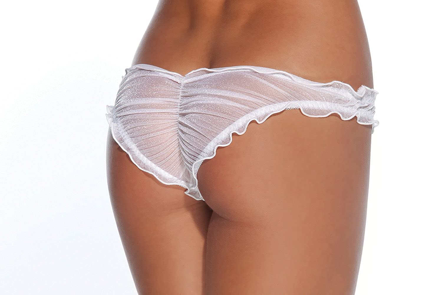 ddd86e1448ef Coquette Sheer Bridal Panty White Small at Amazon Women's Clothing store:  Lingerie Sets
