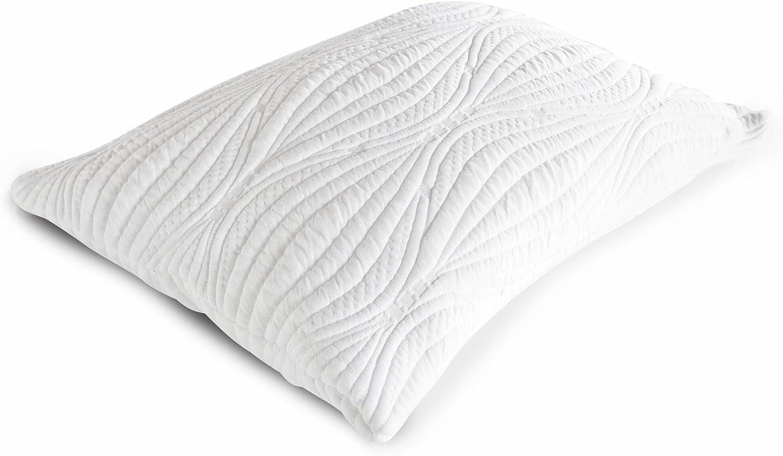 Fabrictech FTMF942 Cooling Memory Fiber Pillow Technical Textile Queen White