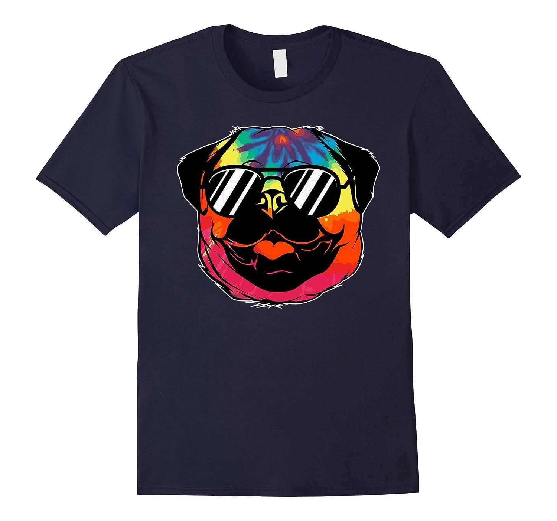 Pug Dog T-Shirt - Tie Dye Hippie Pug-Vaci