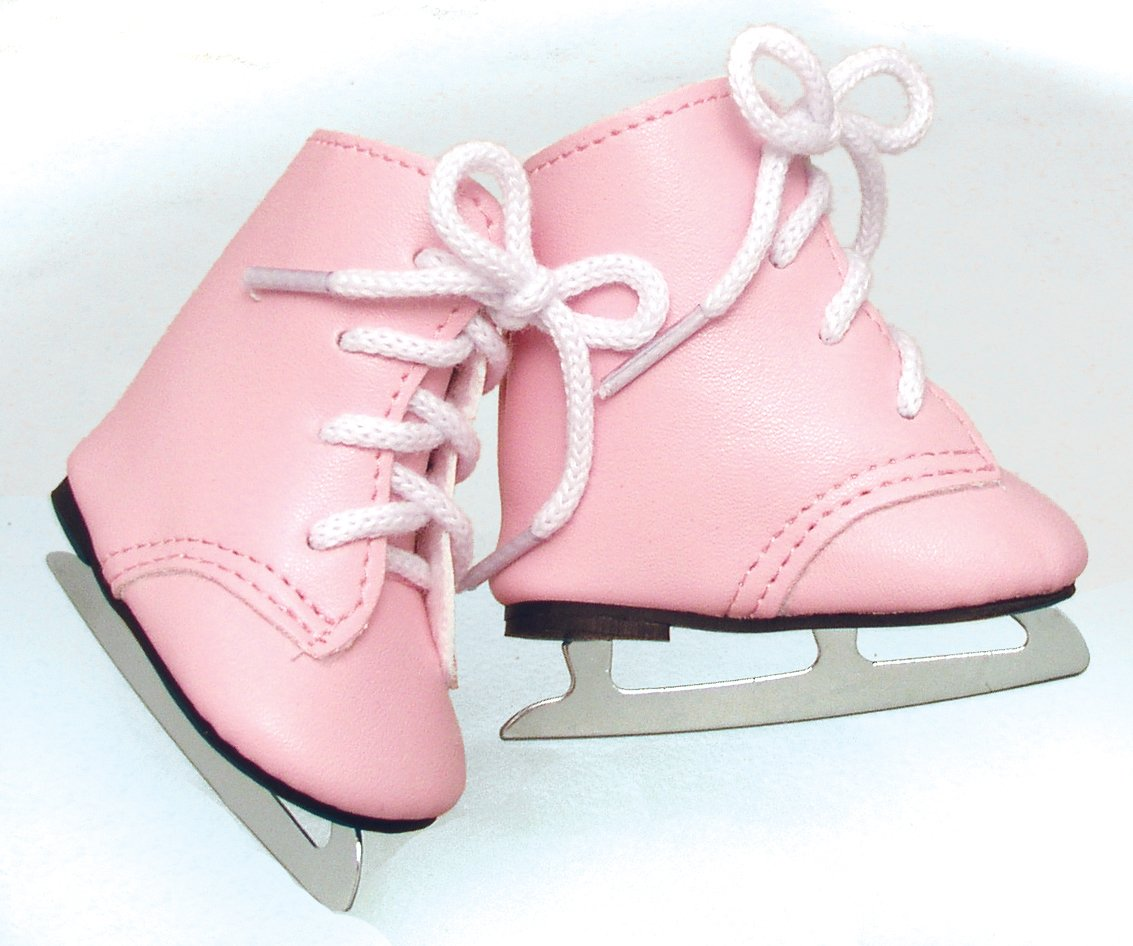 Fits American Girls Pink Dolls Ice Skates for 18 Inch Dolls Made by Sophia's