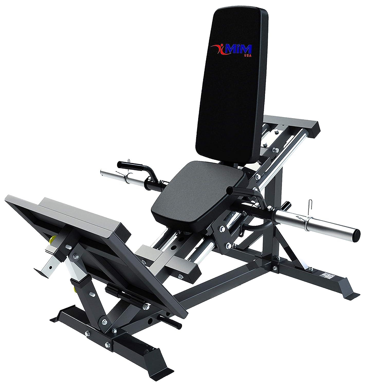 MiM USA Leg Press Calf Raise Machine Ultimate Home Gym Leg Strength Solution New Version LP 5005