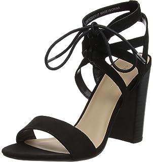 New Look Tashel, Escarpins Bout Ouvert Femme, (Black 1), 40 EU