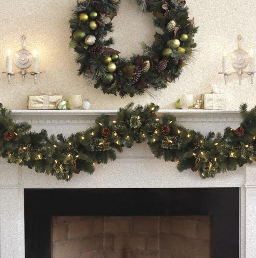 Amazon.com : Kirkland Signature 9 Ft Pre-lit Garland : Christmas ...