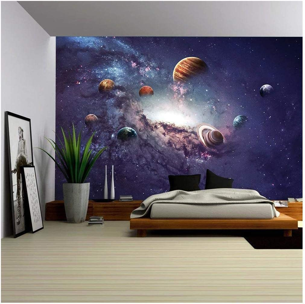 wall26 - High Resolution Images Presents Creating Planets of The Solar System. - Removable Wall Mural | Self-Adhesive Large Wallpaper - 100x144 inches
