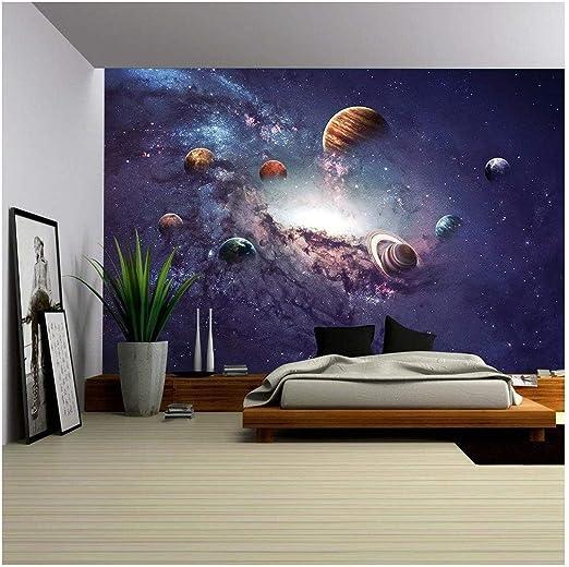 Planets Star Night Sky Wall Mural Wall paper Decal Wall Art Print